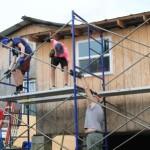 Assembling scaffolding for Kaylee's room
